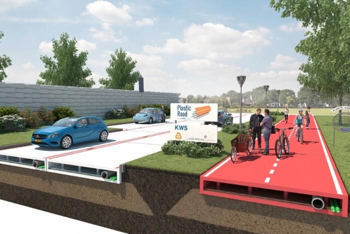 Cidade holandesa será a primeira do mundo com uma estrada feita com plástico reciclado