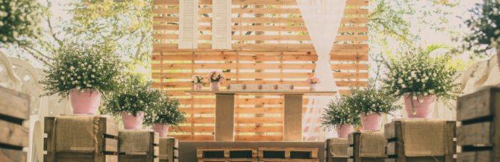 Casamento com decoração sustentável