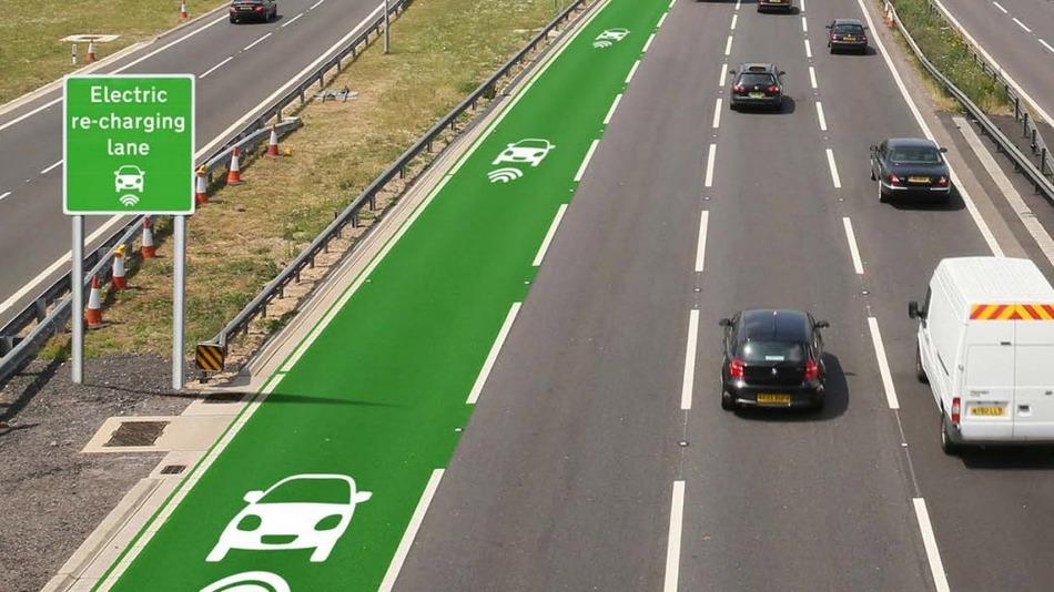 A inglaterra já está testando estradas que recarregam carros elétricos durante a viagem