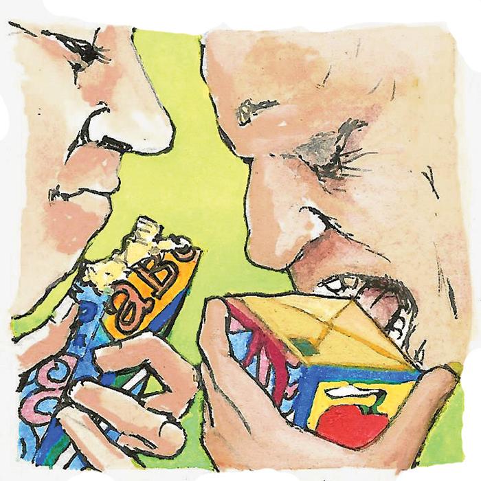Comida embalada em comida