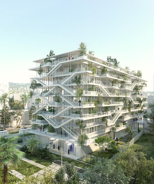 NL*A divulga projeto de edifício corporativo ecológico na França