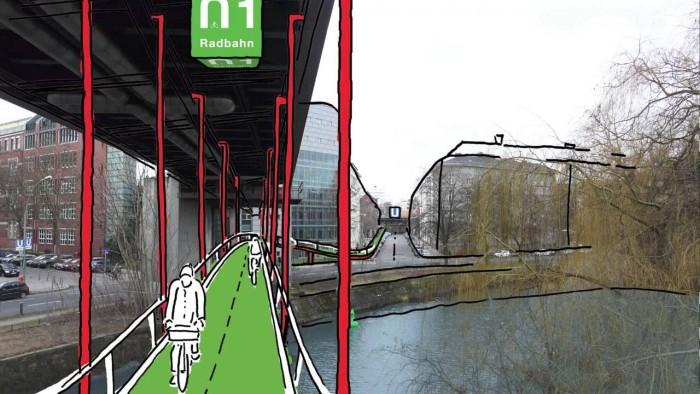 Alemanha lança projeto de ciclovia coberta, com hortas e pavimento inteligente