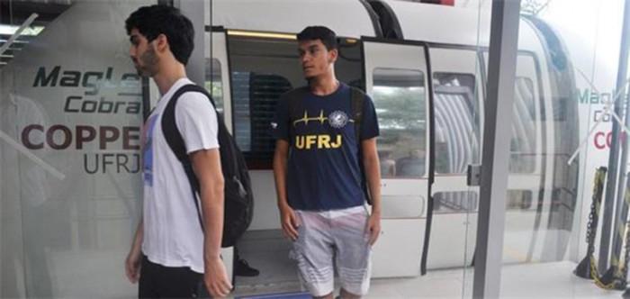 Trem que levita inicia viagens experimentais ao público na UFRJ