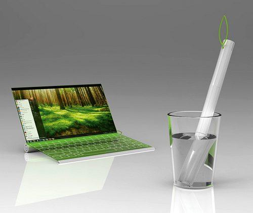 El ordenador portátil orgánico del futuro: Plantbook