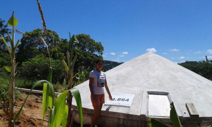 No Sertão, Cisterna melhora saúde das pessoas e ajuda na produção de mudas