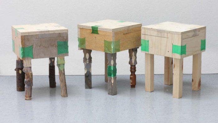 Designer utiliza garrafas de plástico encolhidas por calor para criar móveis