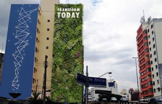 Minhocão ganha jardim vertical pioneiro no Brasil