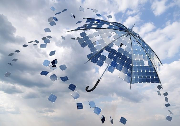 Paneles que producen energía solar, ¡con lluvia!