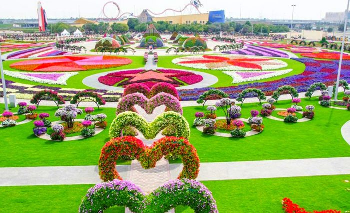 O maior jardim do mundo tem mais de 45 milhões de flores