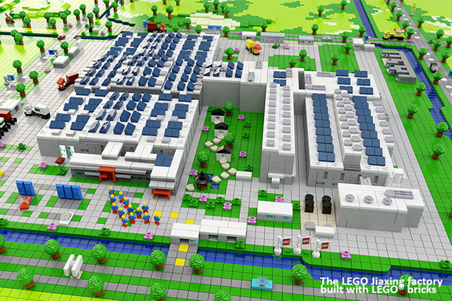 Nova fábrica da Lego na China terá 20 mil painéis solares