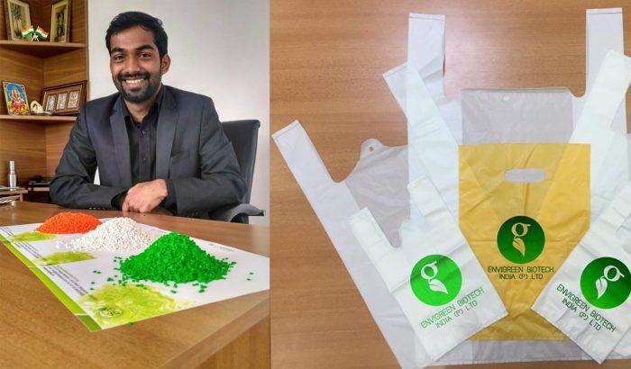 EnviGreen – Sacolas plásticas 100% orgânicas que podem biodegradar e virar ração animal