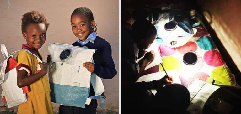 Esta mochila solar é capaz de armazenar luz para crianças da África estudarem a noite