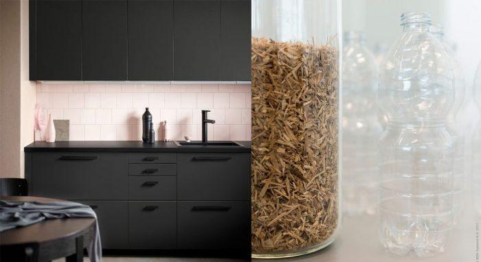 Ikea lança nova cozinha sustentável feita de madeira e garrafas PET recicladas