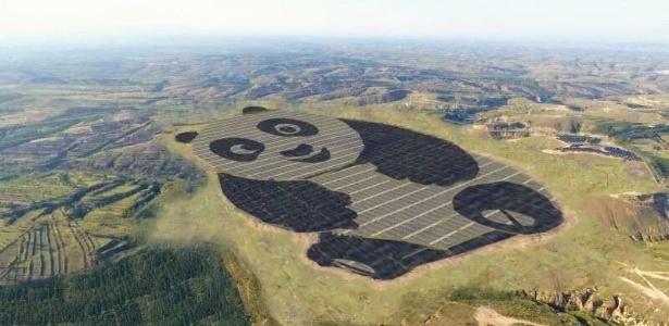 China inaugura estação de energia solar em forma de panda