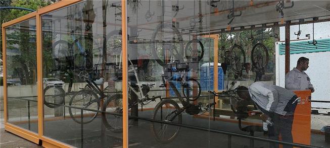 Bicicletário da Av. Paulista, em São Paulo: aberto 24 horas