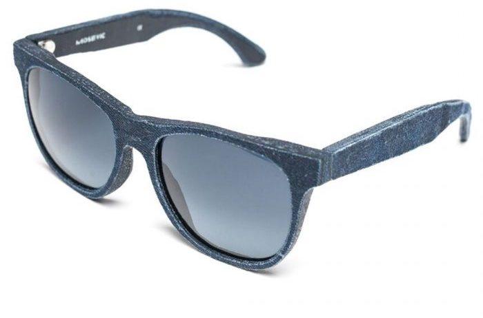 Óculos de sol feitos de Jeans reciclados. De tempos em tempos 4fdfebaf335